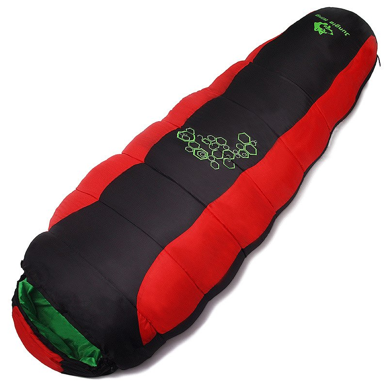 Camping Winter Sleeping Bag -5-0 ℃ Sleeping Bags Travel & Outdoor Color : Red Grey Blue